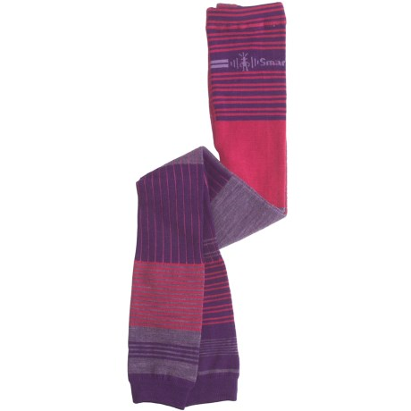SmartWool Pipp Footless Tights - Merino Wool (For Girls) in Grape
