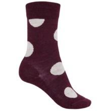 SmartWool Polk-a-Dot Socks - Merino Wool, Crew (For Women) in Aubergine Heather - Closeouts