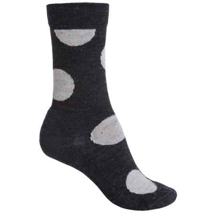SmartWool Polk-a-Dot Socks - Merino Wool, Crew (For Women) in Charcoal Heather - Closeouts