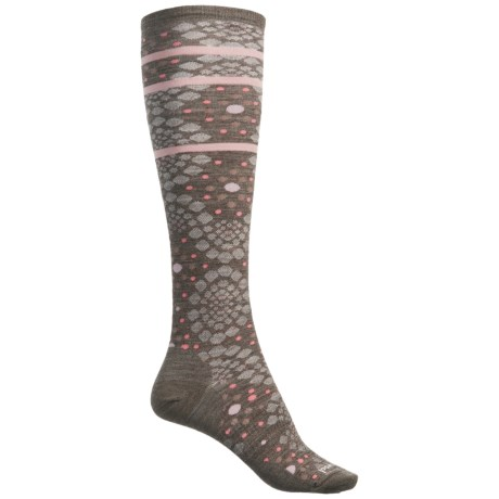 SmartWool Pompeii Pebble Socks - Merino Wool, Over the Calf (For Women) in Taupe Heather