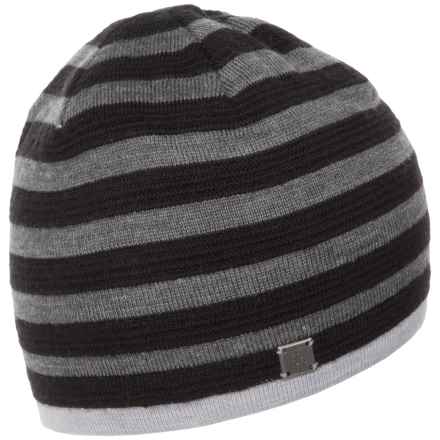 SmartWool Ponderosa Stripe Beanie - Merino Wool Blend (For Women) in Medium Gray Heather - Closeouts