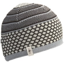 SmartWool Popcorn Cable Beanie Hat - Merino Wool (For Men and Women) in Chocolate Heather - Closeouts