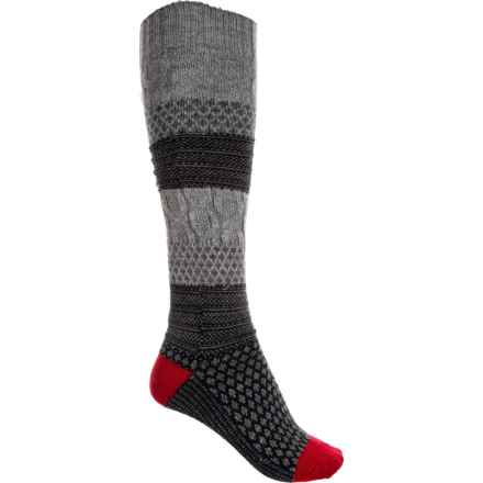 68b8320c95798 SmartWool Popcorn Cable Knee High Socks - Merino Wool, Over the Calf (For  Women