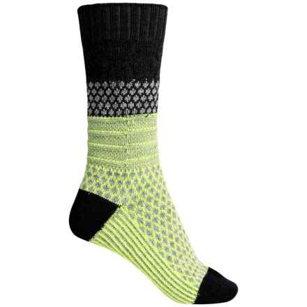 SmartWool Popcorn Cable Socks - Merino Wool, Crew (For Women) in Charcoal - 2nds