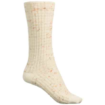 SmartWool Premium Broadmoore Marl Boot Socks - Merino Wool, Mid Calf (For Women) in Natural Heather - Closeouts