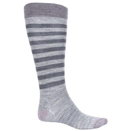 SmartWool Premium Gypsum Socks - Merino Wool, Over the Calf (For Women) in Medium Gray Heather