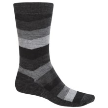 SmartWool Print Socks - Merino Wool, Crew (For Men) in Black Chevron - 2nds