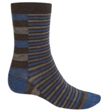 SmartWool Print Socks - Merino Wool, Crew (For Men) in Chestnut - 2nds