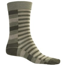 SmartWool Print Socks - Merino Wool, Crew (For Men) in Chino Heather - 2nds