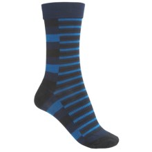 SmartWool Print Socks - Merino Wool, Crew (For Men) in Deep Navy Heather - 2nds