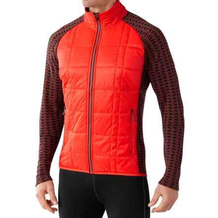 SmartWool Propulsion 60 Jacket - Midweight, Merino Wool (For Men) in Bright Orange - Closeouts