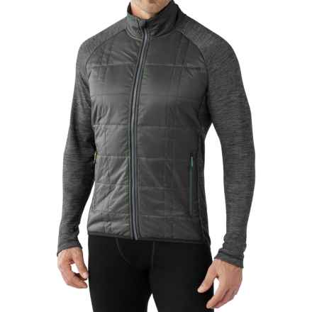 SmartWool Propulsion 60 Jacket - Midweight, Merino Wool (For Men) in Graphite/Charcoal Knockout - Closeouts