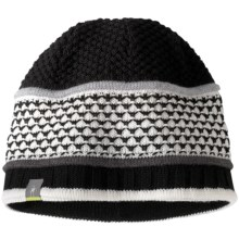 SmartWool Quilted Bells Beanie Hat - Merino Wool (For Women) in Black - Closeouts