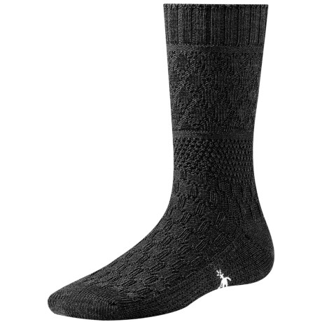 SmartWool Quilted Cable Socks - Merino Wool (For Women) in Black
