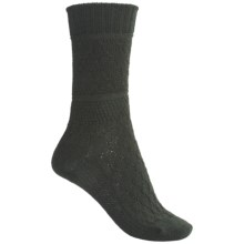 SmartWool Quilted Cable Socks - Merino Wool (For Women) in Forest - 2nds