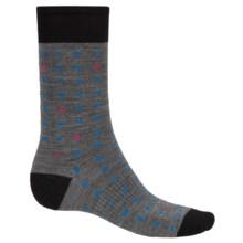 SmartWool Random Dot Socks - Merino Wool, Crew (For Men) in Medium Grey - Closeouts