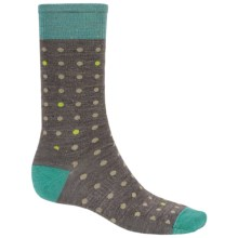 SmartWool Random Dot Socks - Merino Wool, Crew (For Men) in Taupe - Closeouts