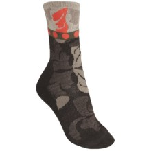 SmartWool Reflections Leaf Socks - Merino Wool, Crew (For Women) in Chestnut Heather - 2nds