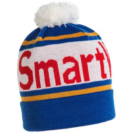 SmartWool Retro Logo Beanie - Merino Wool (For Men and Women) in Bright Blue - Closeouts