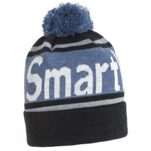 SmartWool Retro Logo Beanie - Merino Wool (For Men and Women) in Charcoal Heather - Closeouts