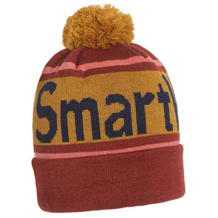 SmartWool Retro Logo Beanie - Merino Wool (For Men and Women) in Moab Rust - Closeouts