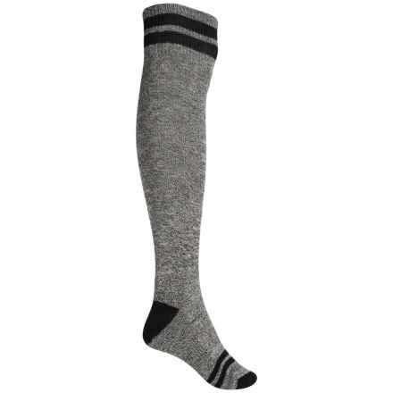 SmartWool Retro Tube Socks - Merino Wool, Over the Knee (For Women) in Black - Closeouts