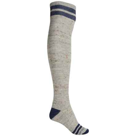 SmartWool Retro Tube Socks - Merino Wool, Over the Knee (For Women) in Light Gray Heather - Closeouts