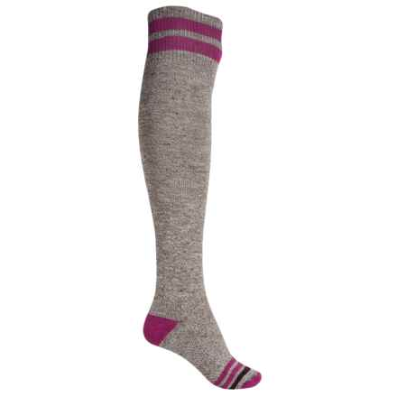 SmartWool Retro Tube Socks - Merino Wool, Over the Knee (For Women) in Taupe Heather - Closeouts