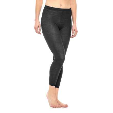 SmartWool Ribbed Footless Tights - Merino Wool (For Women) in Charcoal Heather - Closeouts