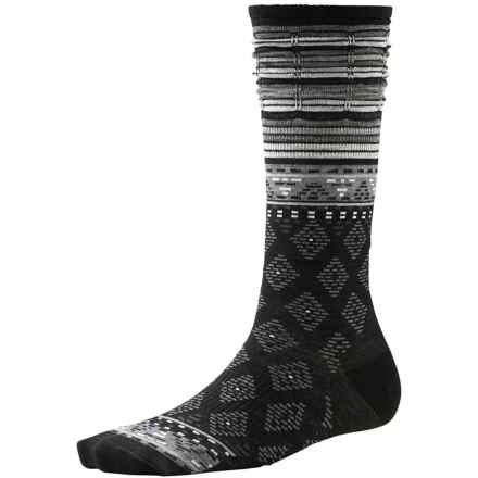 SmartWool Rocking Rhombus Socks - Merino Wool, Mid Calf (For Women) in Black - 2nds