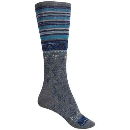 SmartWool Rocking Rhombus Socks - Merino Wool, Mid Calf (For Women) in Medium Gray Heather - 2nds