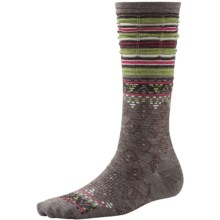 SmartWool Rocking Rhombus Socks - Merino Wool, Mid Calf (For Women) in Taupe - 2nds