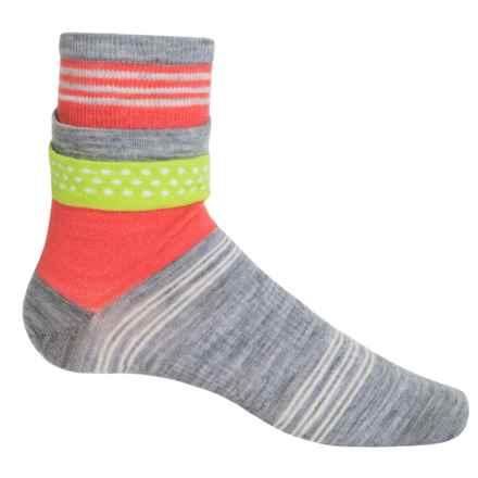 SmartWool Roll Top Dot Socks - Merino Wool, Ankle (For Women) in Light Grey Heather - 2nds