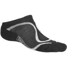 SmartWool Run Light Micro Socks - Merino Wool, Lightweight, Below-the-Ankle (For Men and Women) in Black/Silver - 2nds