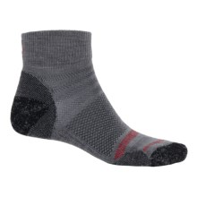 SmartWool Run Light Mini Socks - Merino Wool, Ankle (For Men and Women) in Graphite/Red - Closeouts