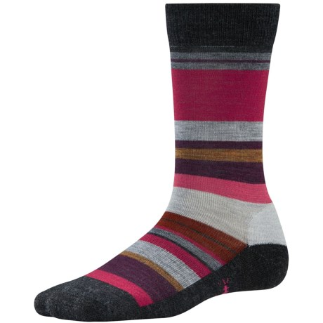 SmartWool Saturn Socks - Merino Wool (For Women) in Charcoal Heather