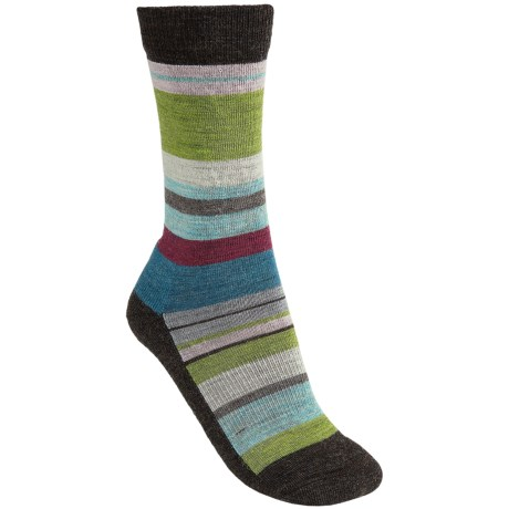 SmartWool Saturn Socks - Merino Wool (For Women) in Chestnut Multi Stripe