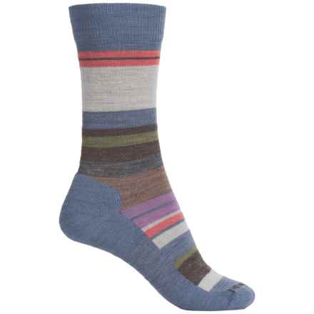 SmartWool Saturnsphere Socks - Merino Wool, Crew (For Women) in Blue Steel Heather/Natural - Closeouts