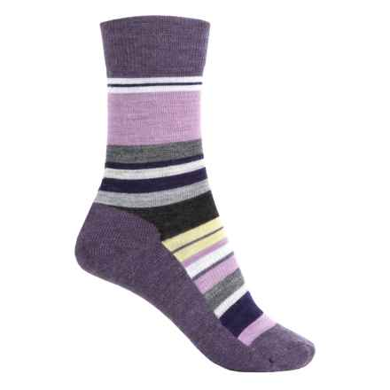 SmartWool Saturnsphere Socks - Merino Wool, Crew (For Women) in Desert Purple Heather - Closeouts