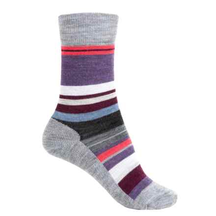 SmartWool Saturnsphere Socks - Merino Wool, Crew (For Women) in Light Gray Heather - Closeouts