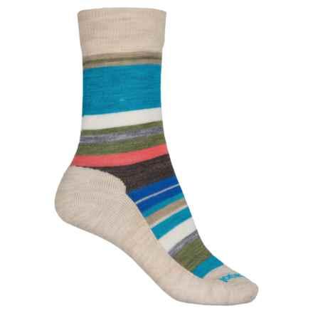 SmartWool Saturnsphere Socks - Merino Wool, Crew (For Women) in Natural Stripe - Closeouts