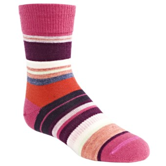 SmartWool Saturnsphere Socks - Merino Wool (For Kids) in Peony