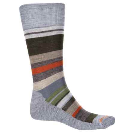 SmartWool Saturnsphere Socks - Merino Wool, Over the Calf (For Men) in Light Gray Heather/Loden - Closeouts