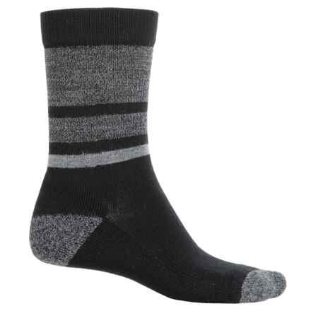 SmartWool Shed Stripe Socks - Merino Wool, Crew (For Men) in Black - 2nds