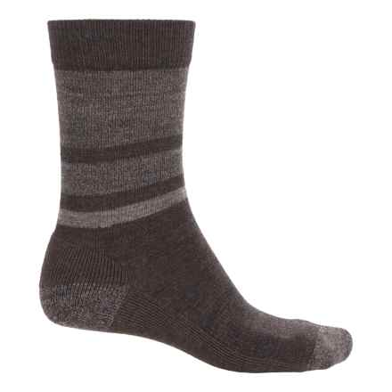 SmartWool Shed Stripe Socks - Merino Wool, Crew (For Men) in Chestnut Heather - 2nds