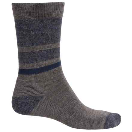 SmartWool Shed Stripe Socks - Merino Wool, Crew (For Men) in Taupe - 2nds