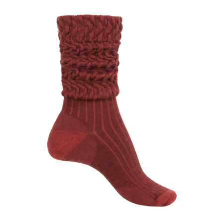 SMARTWOOL SHORT BOOT SLOUCH SOCKS (For Women) in Cinnamon Heather - Closeouts