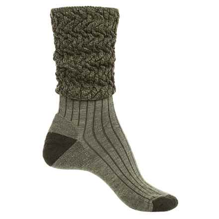SMARTWOOL SHORT BOOT SLOUCH SOCKS (For Women) in Light Loden Heather - Closeouts