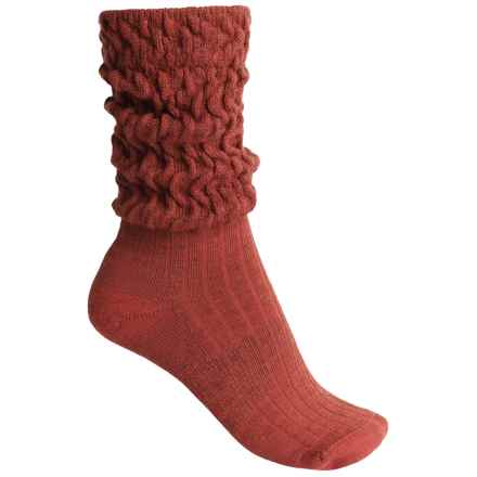 SmartWool Short Boot Slouch Socks - Merino Wool, Mid Calf (For Women) in Cinnamon Heather - 2nds