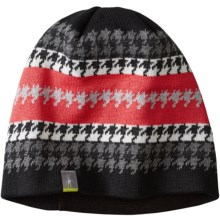 SmartWool Ski Jacquard Beanie - Merino Wool (For Women) in Black - Closeouts